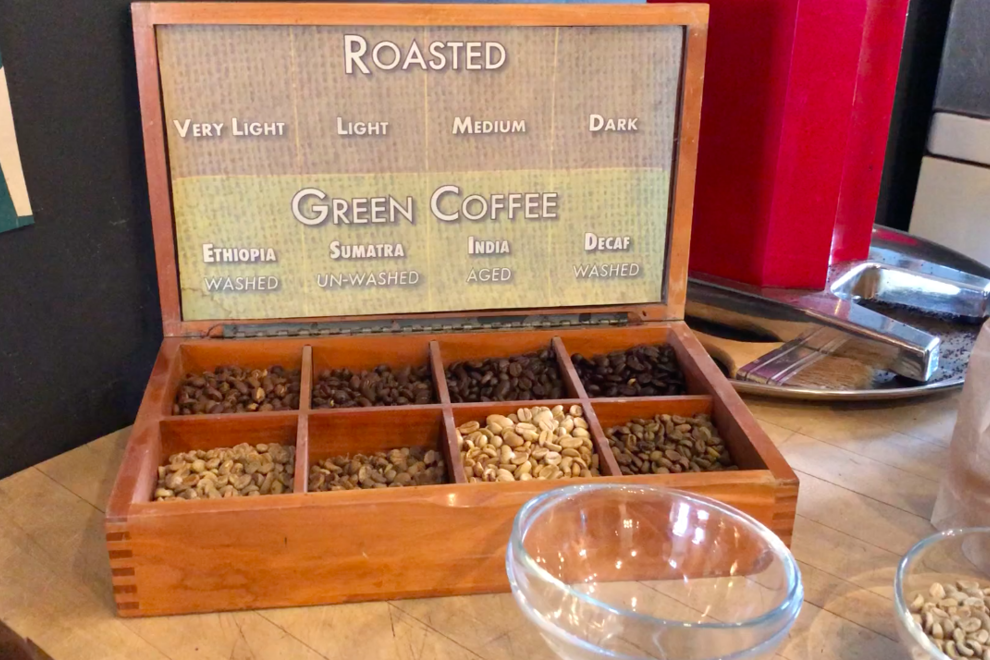 Green coffee beans victoria
