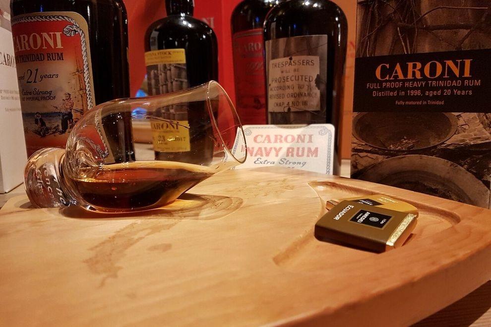 Sampling Caroni rum