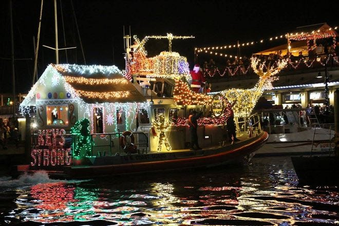 Lighted Boat Parade at Schooner Wharf