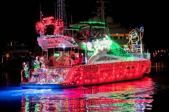 Key West Lighted Boat Parade at Schooner Wharf