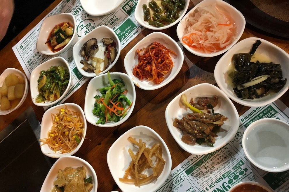 Kimchi, potatoes and spicy broccoli – Kim's Korean BBQ is all about the small dishes that come with the main course