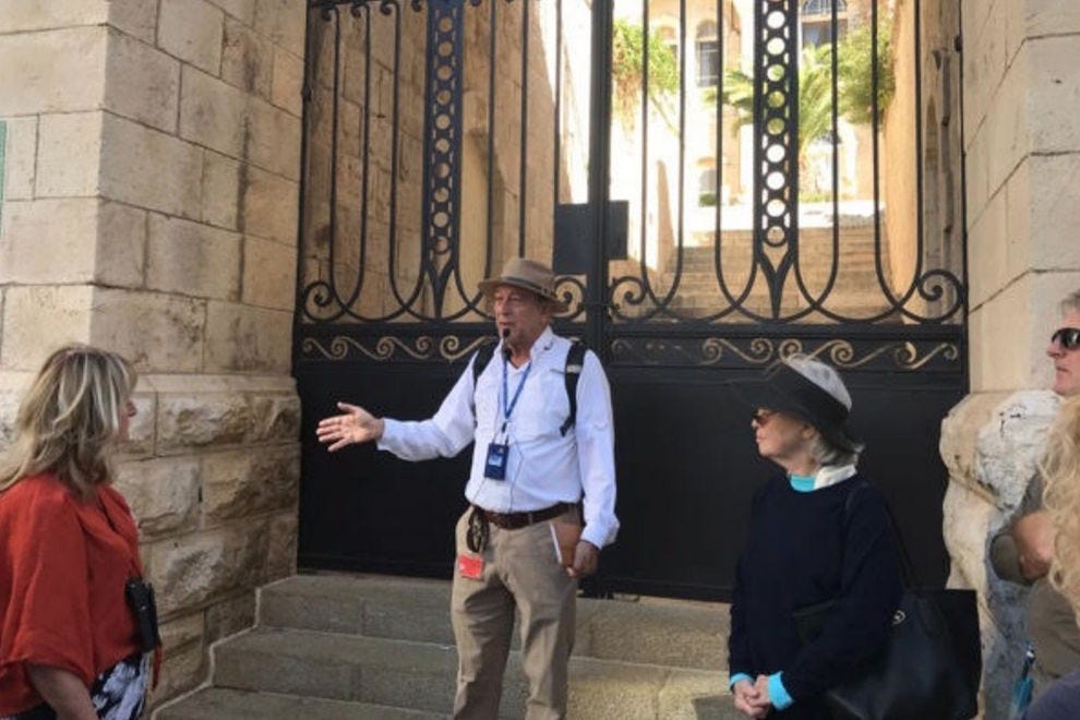 Iddo Katz, Isareli scholar and guide, along with two scholars guiding Jewish Heritage Travel guests through the Old City in Israel