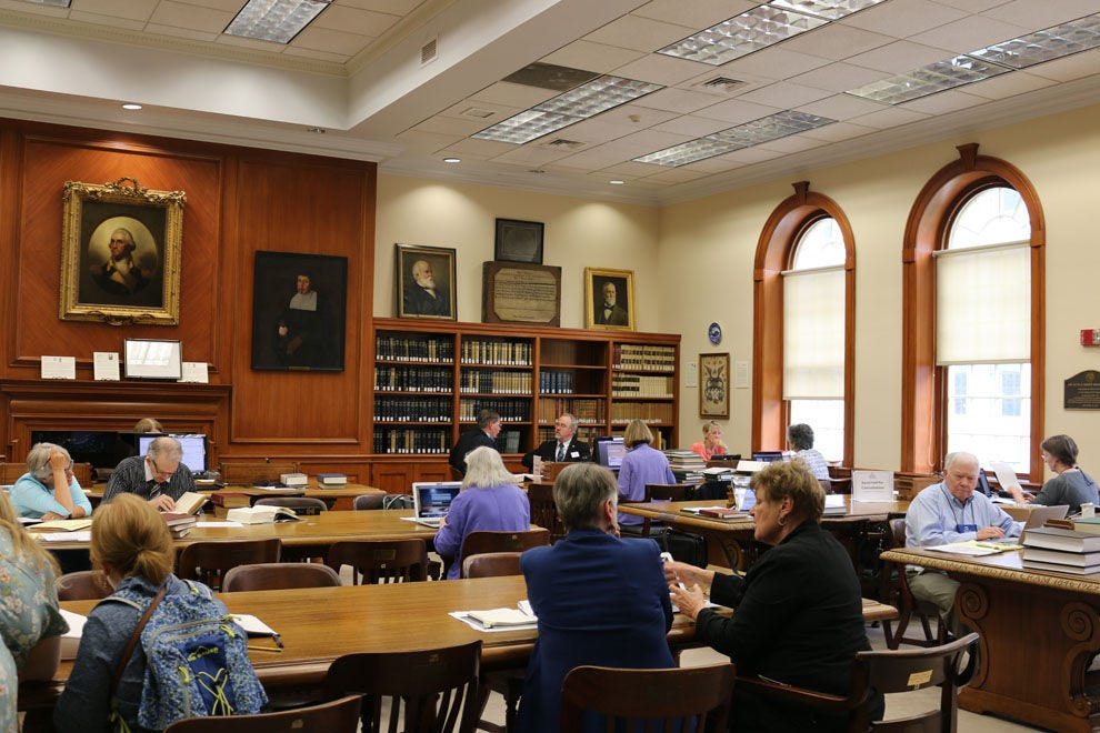 Discover your past in the 7th floor Reading Room at the NEHGS Library