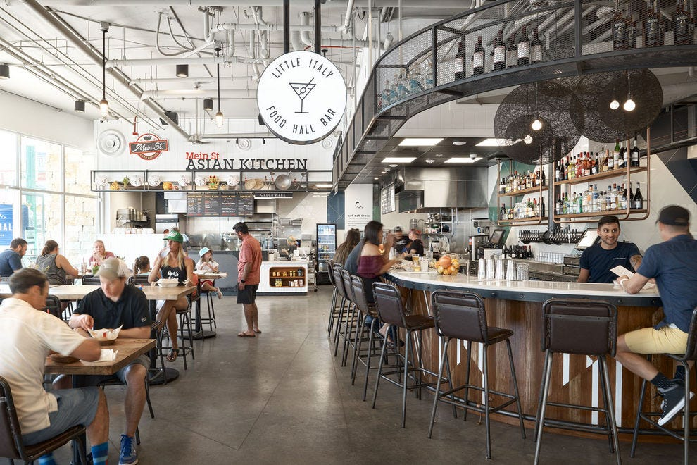 Food Hall showing Asian Kitchen and Little Italy concepts