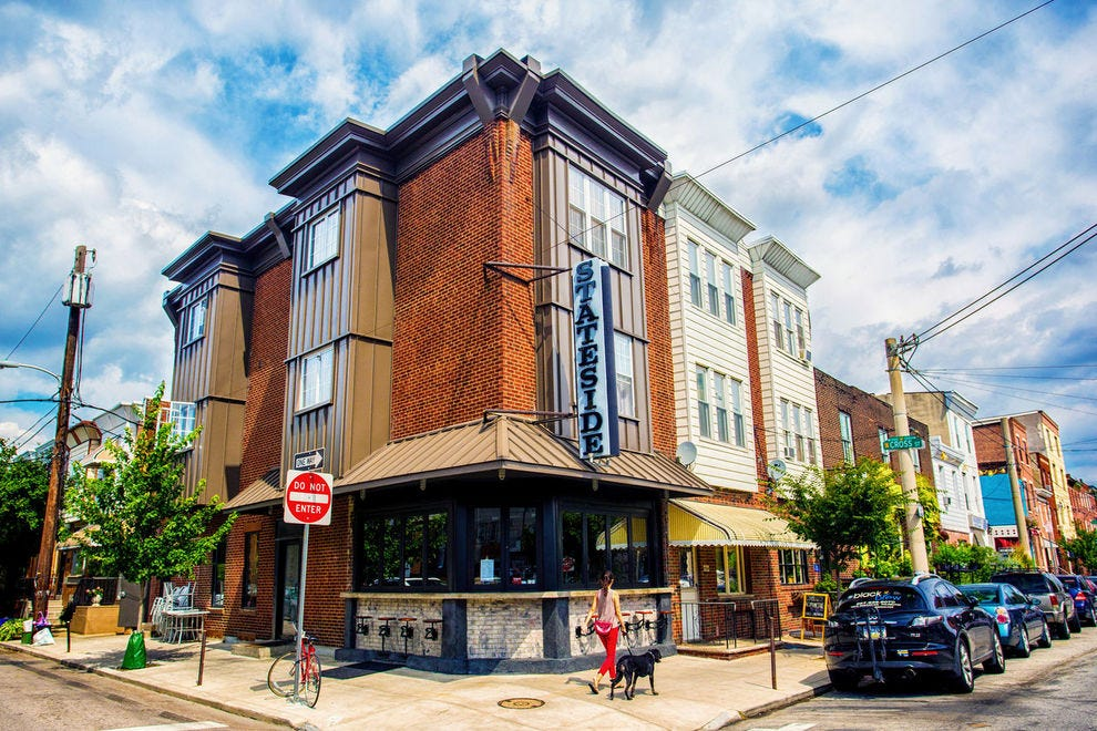 Situated on the corner, Stateside offers great views of Passyunk Avenue