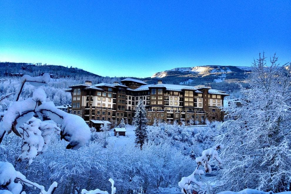 Guests of the Viceroy Snowmass enjoy ski-in ski-out service