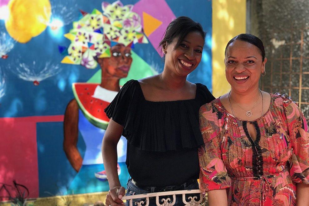 Korra Pietersz-Juliana & Angela Guiamo, owners of Fleur de Marie Eatery