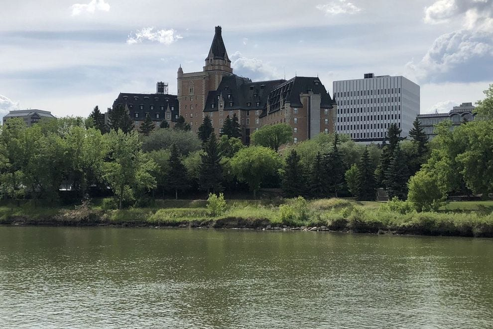 Delta Bessborough on the banks of South Saskatchewan River