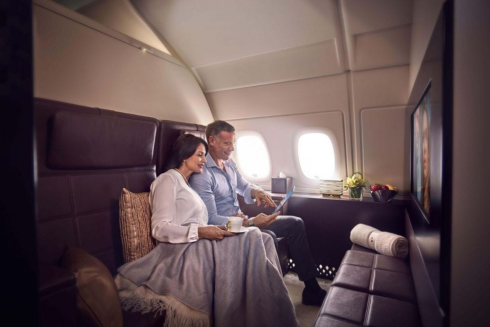 Cuddle up in Etihad Airways' luxurious Residence 3-room suite