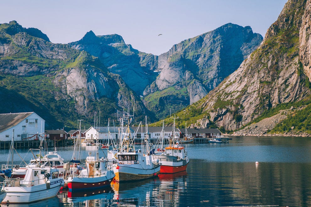 Colorful fishing villages of Lofoten Islands
