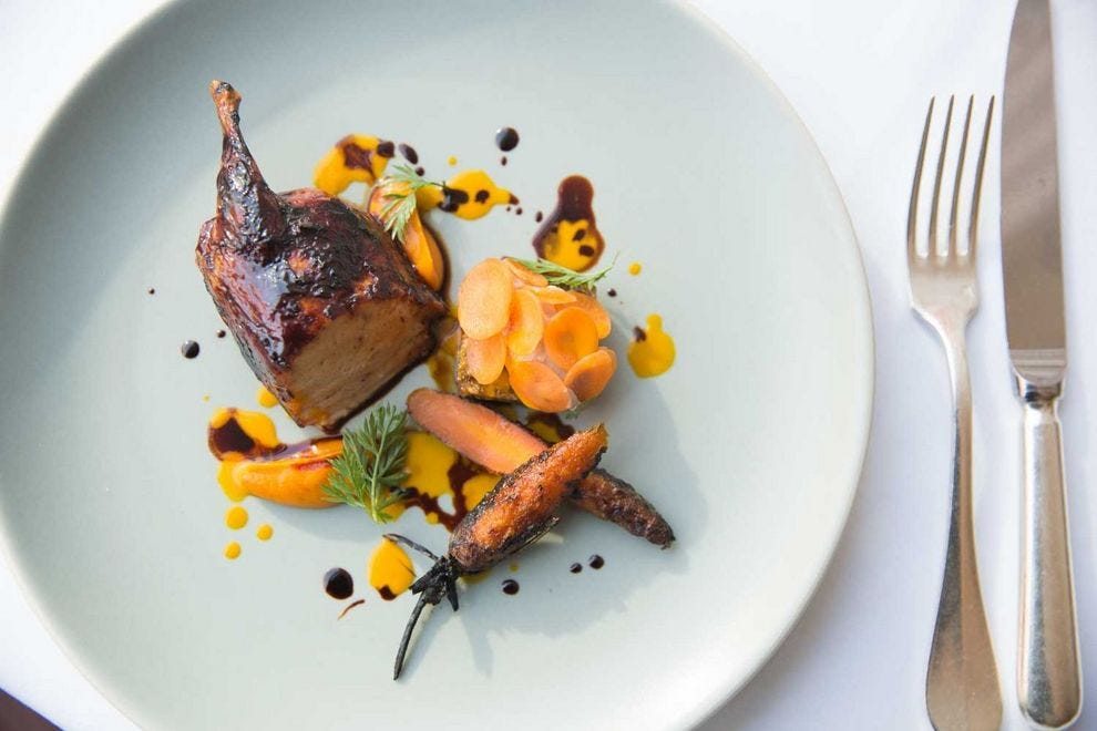 Blackbird barbecue stuffed quail