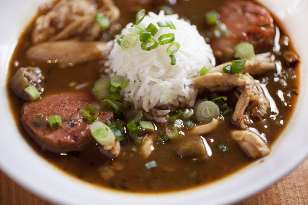 Gumbo is the official state dish of Louisiana