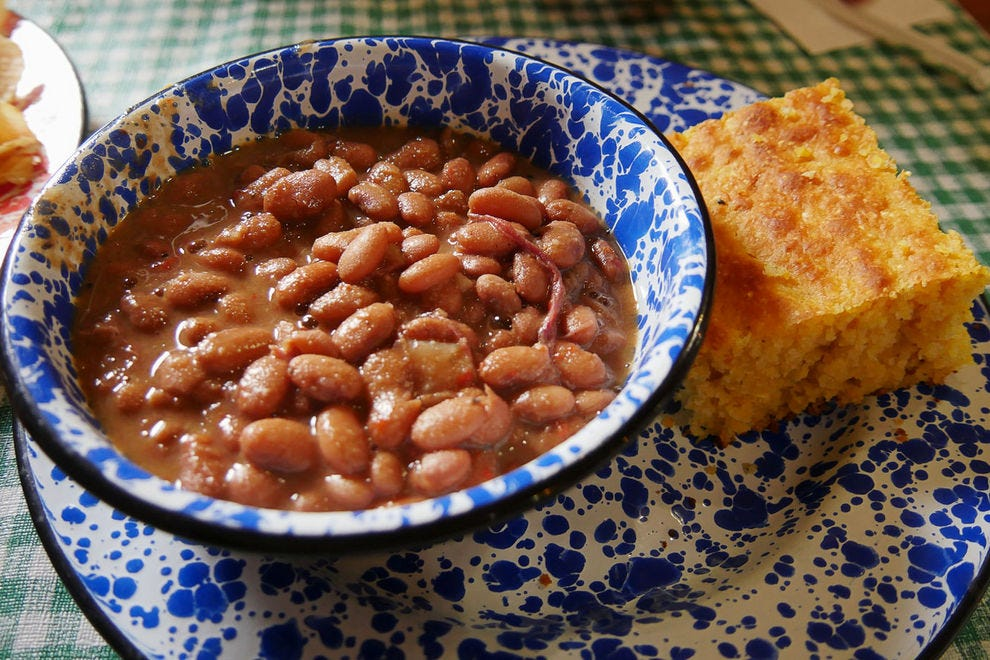 Soup beans with cornbread signify the comforts of home throughout much of Appalachia