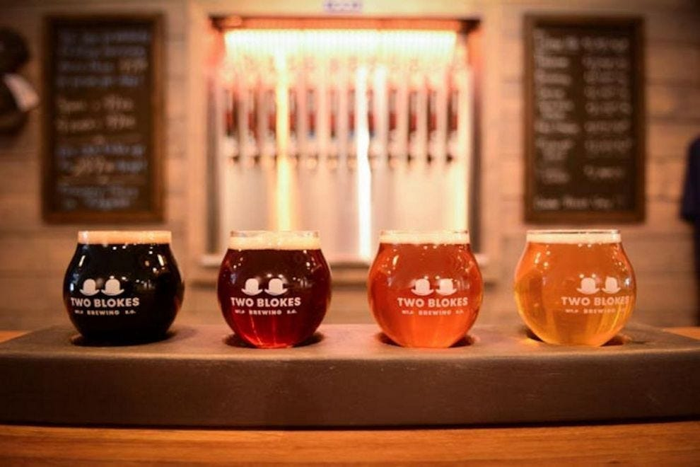 Inspiration and ingredients from around the world can be found in the beers at Two Blokes Brewery