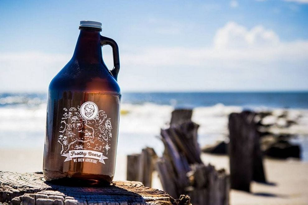 Growlers are the way to go at Frothy Beard Brewing Company