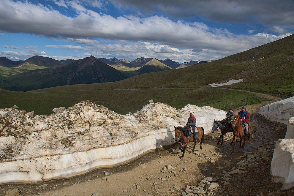 Horses can handle every type of Kyrgyz terrain