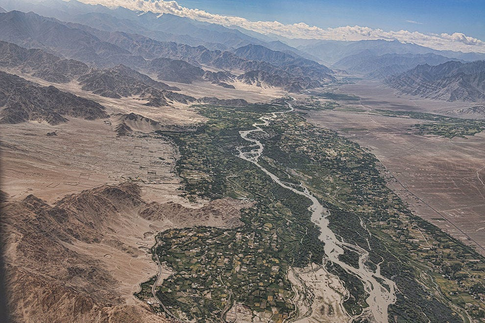 View of the Indus River Valley from above