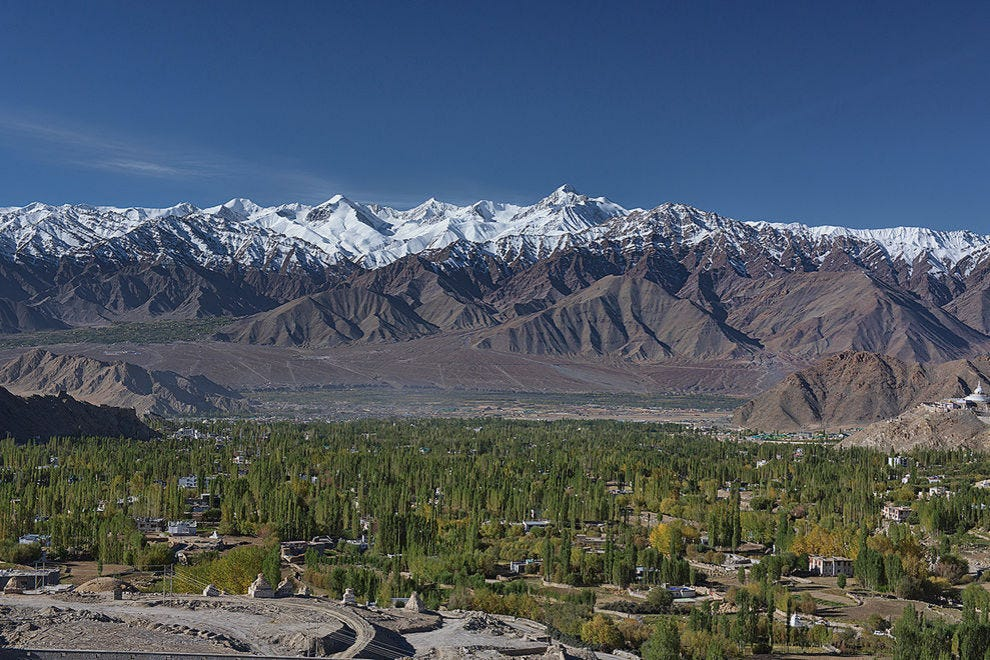 The Stok Range, with Stok Kangri (20,190 feet) rising above Leh