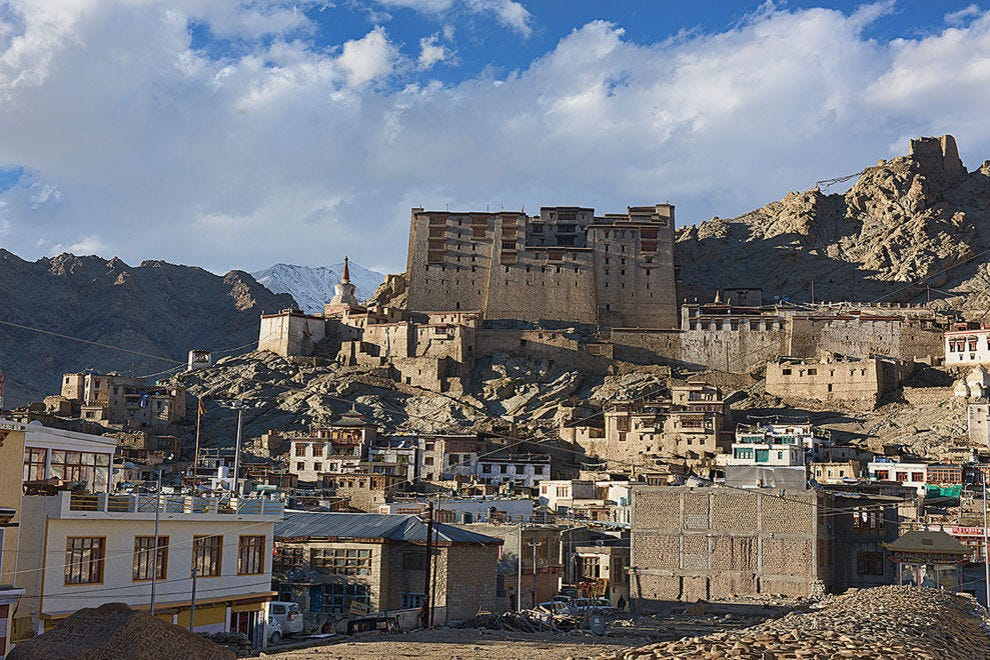 Leh Palace and the old town
