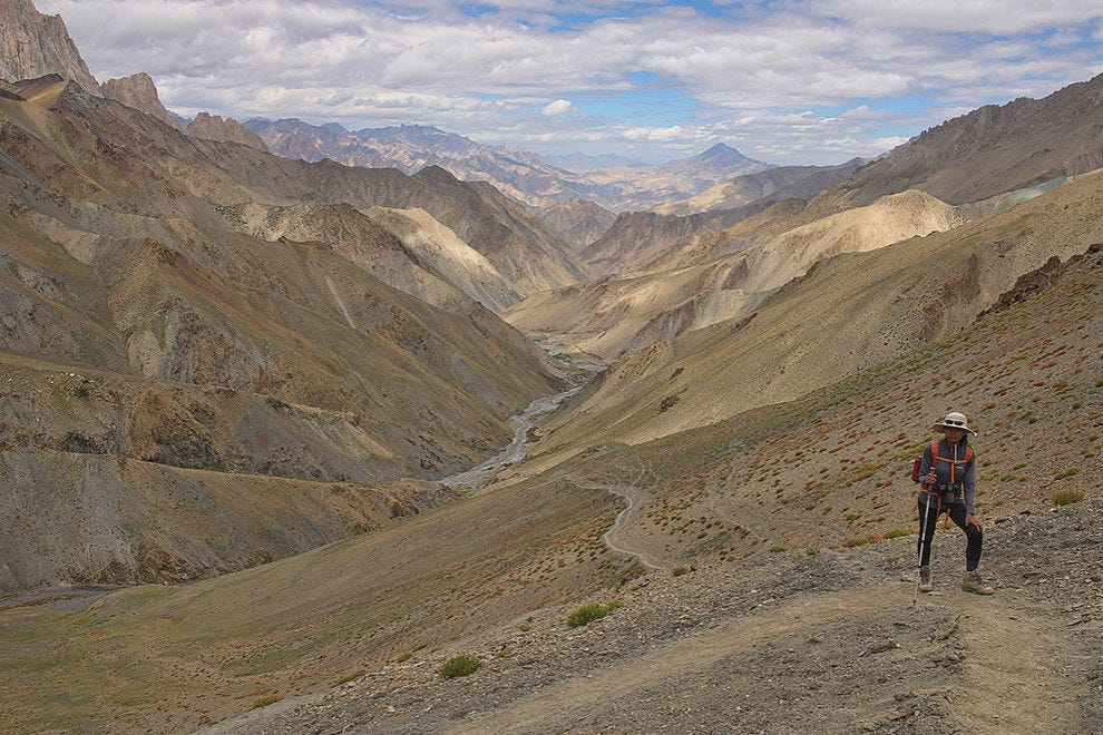 Endless views of the Zanskar mountains from Konzke La Pass