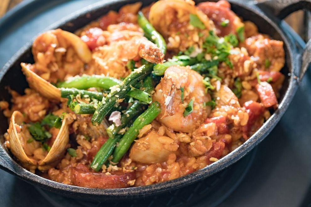 Plantation-Style Paella inspired by a family recipe