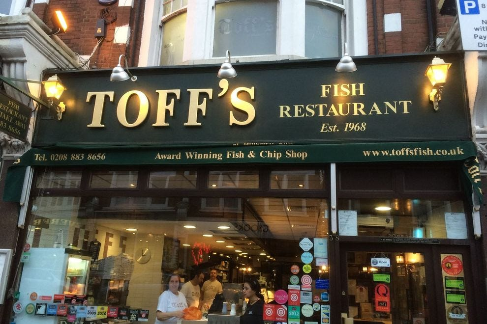 For fish and chips, you can't beat Toff's
