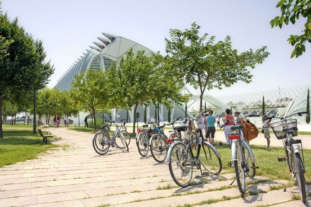 Biking through the City of Arts and Sciences