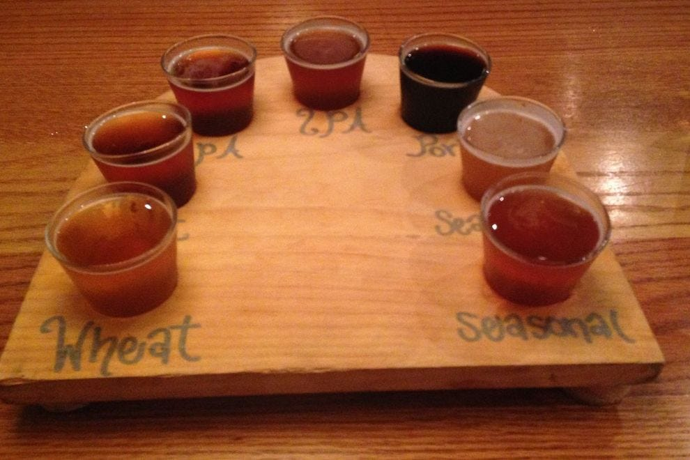 West Sixth's flights include a flagship IPA and seasonal beers