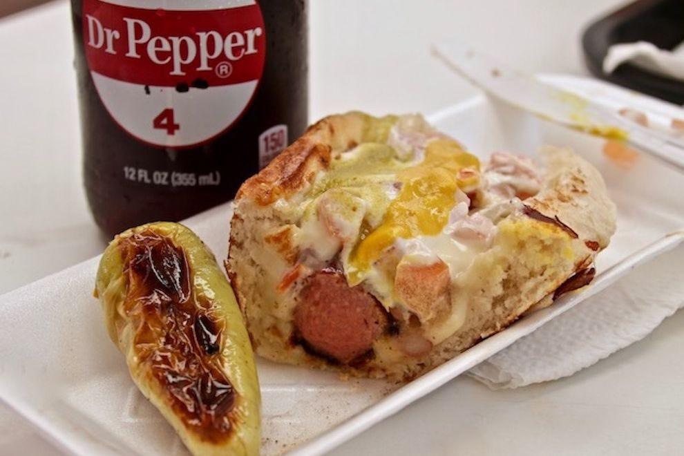 The Sonoran hot dog at Aqui con El Nene in Tucson