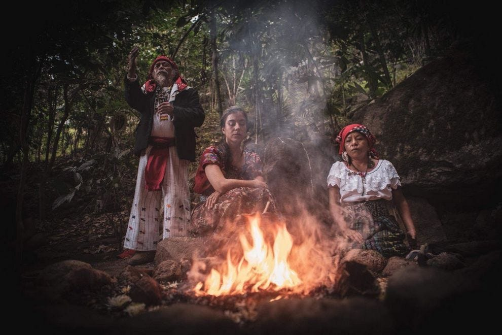 Florencia Fridman of Cacao Lab with elders