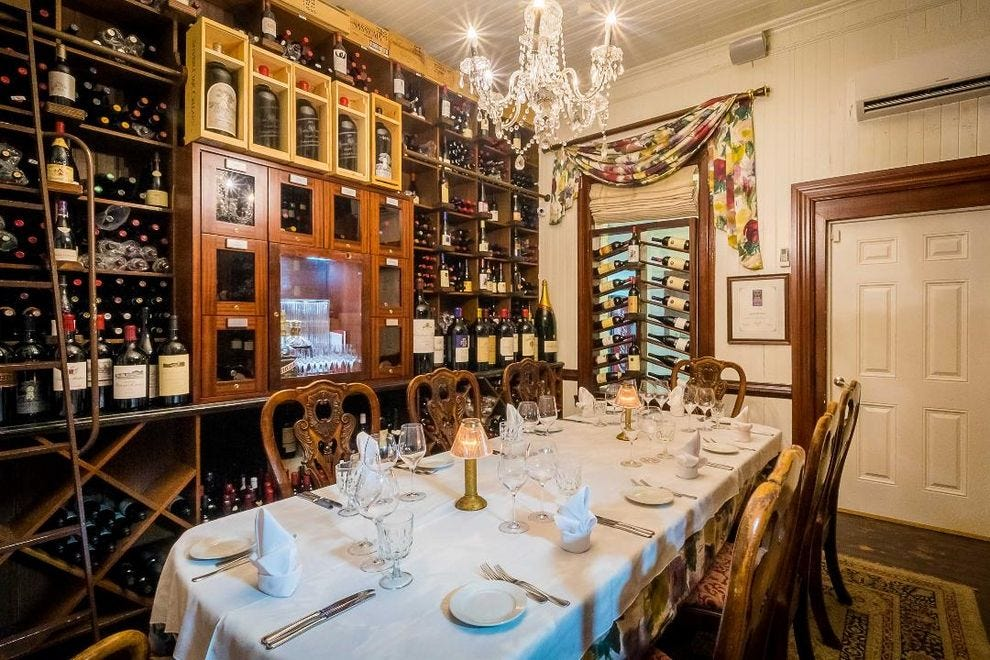 The Wine Room private dining at Grand Old House