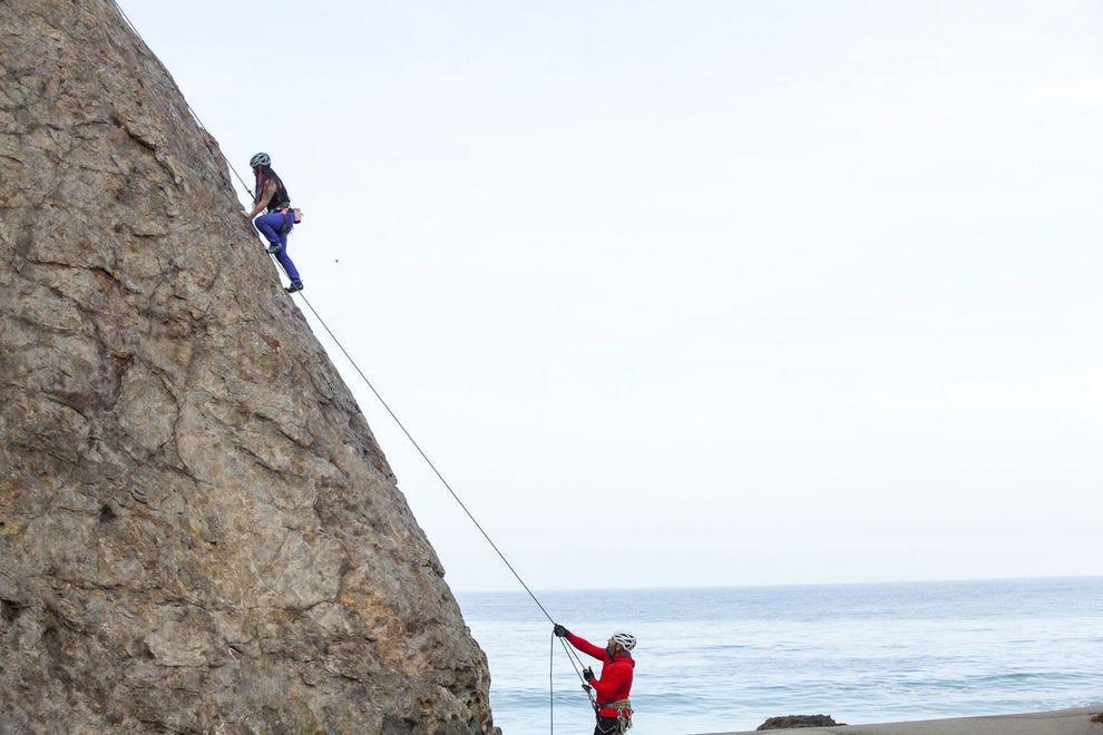 Climbing the cliffs of Malibu