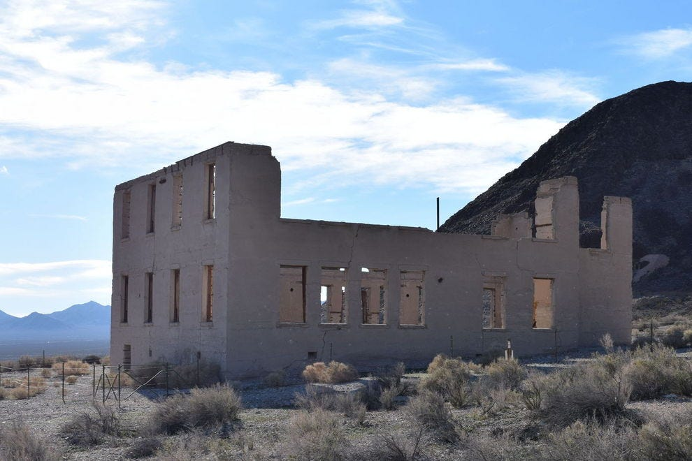 School House Ruins in Rhyolite, Nevada