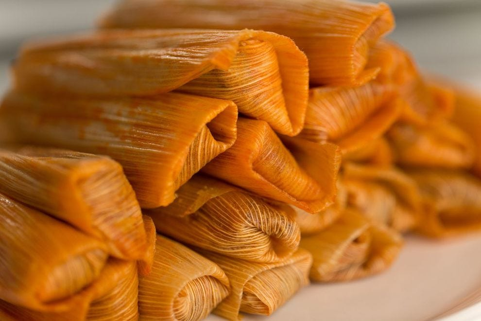Hot tamales from Tony's Tamales