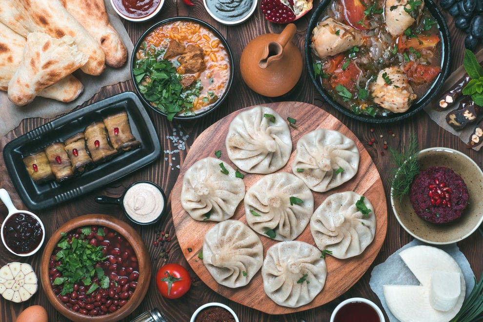 A traditional Georgian feast