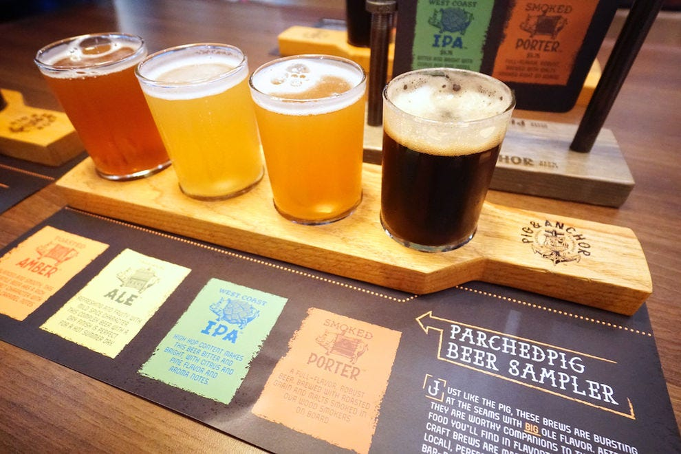 Guy's Pig &amp; Anchor Smokehouse | Brewhouse elevates beer on <em>Carnival Horizon</em> with craft varieties