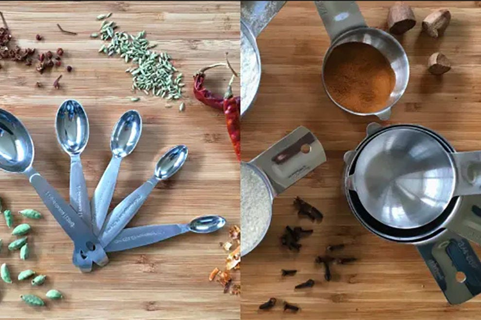 Cuisipro's Stainless Steel Measuring Spoon Set and Bellemain's Stainless Steel Measuring Cup Set