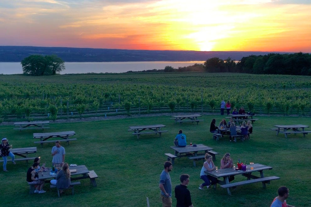 Wagner Vineyards overlooking Seneca Lake