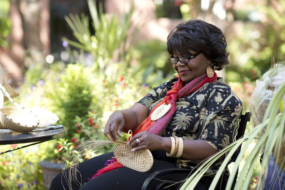 Take a Gullah basket weaving class with artist Lynette Youson at Andrew Pinckney Inn