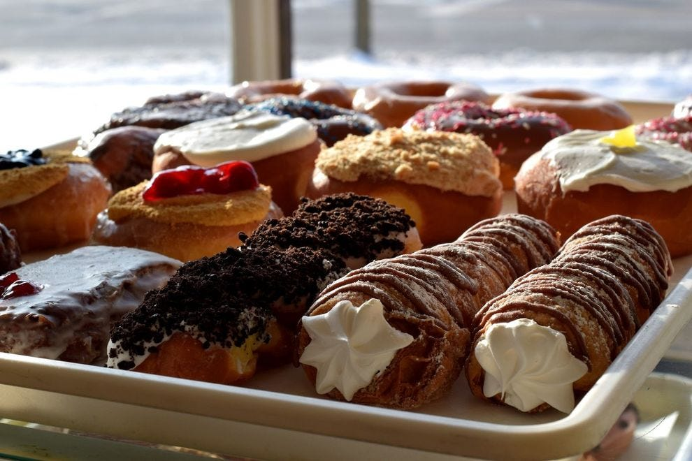 Milton's features donuts like cronuts and cream horns