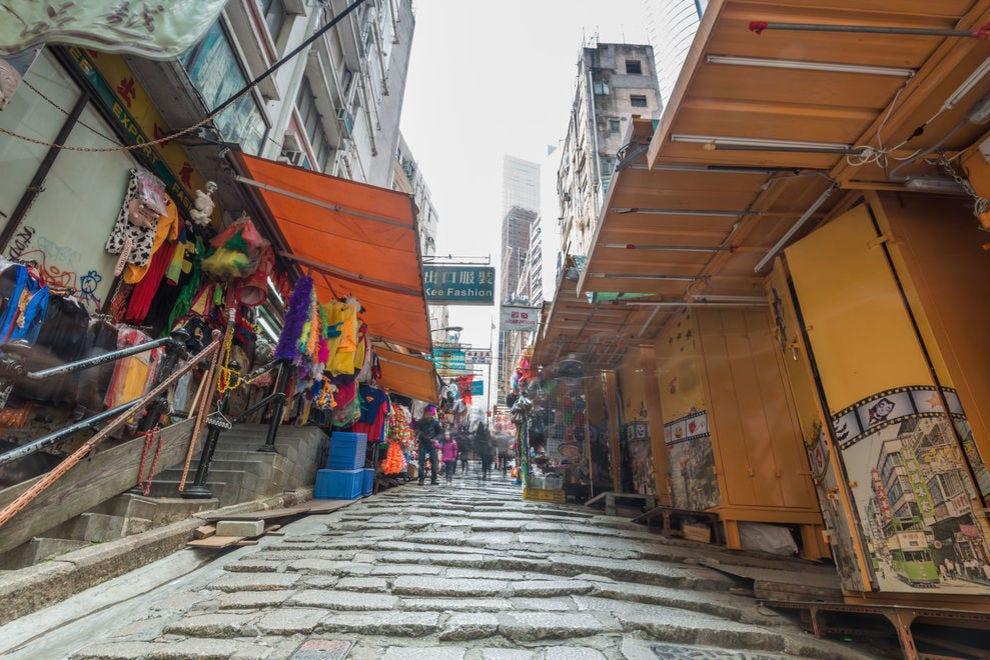 Experience old Hong Kong along Pottinger Street