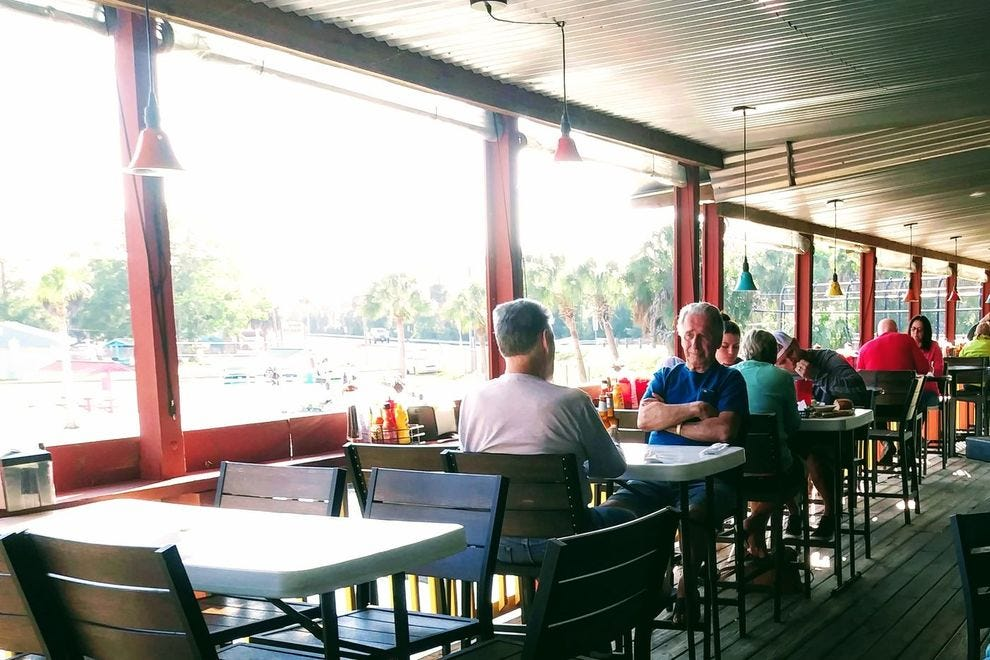 The Upper Deck offers tasty regional dishes and a great river view