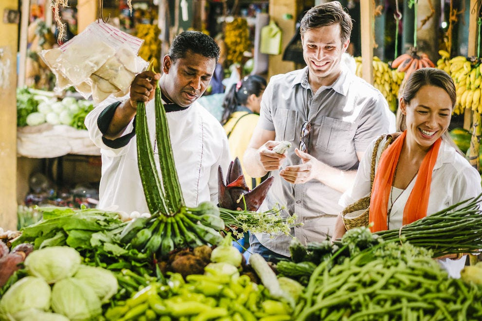 A visit to a local market during a Spice Spoons excursion