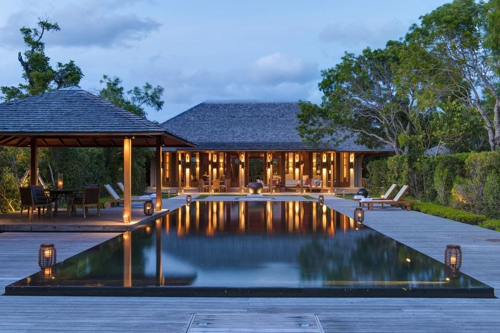 At Amanyara, the pool at Villa 15 is for sublime relaxation
