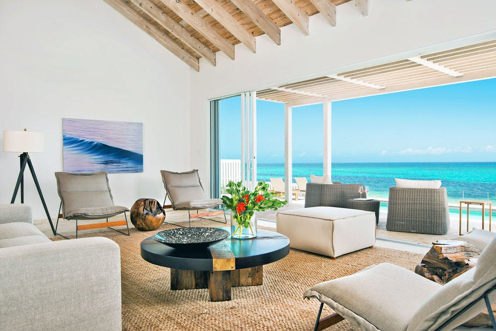 Sailrock Resort in South Caicos is beachfront luxury in swanky villas