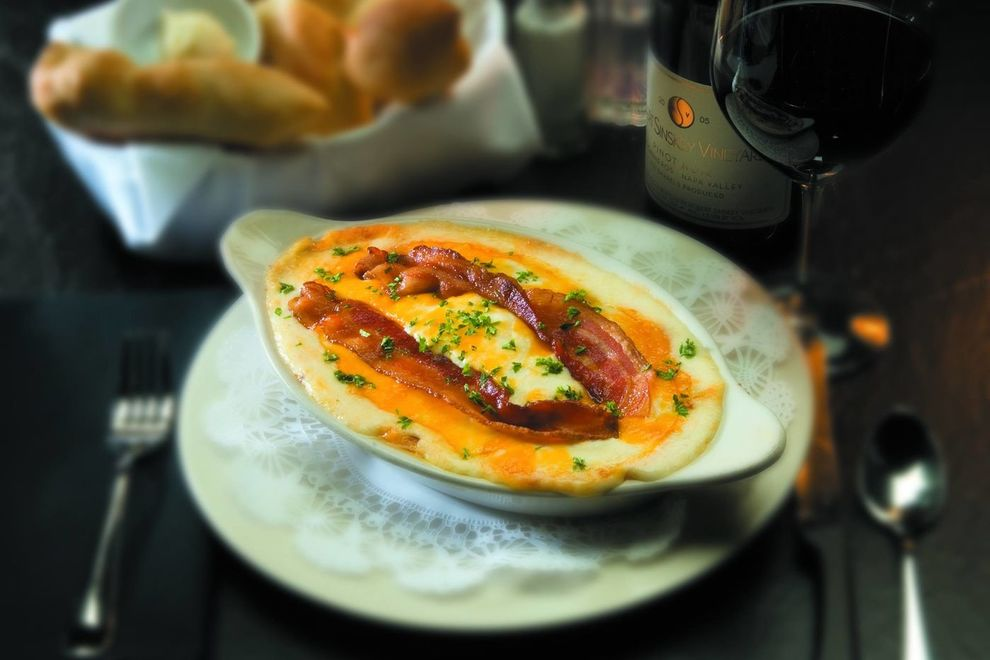 Hot Brown at Bristol Bar and Grille, a local Louisville restaurant