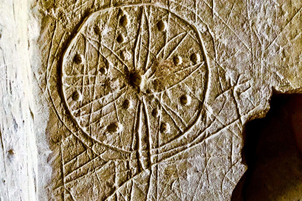 Over the centuries parishioners and others scratched symbols into the doorways of Hampshire's historic churches.