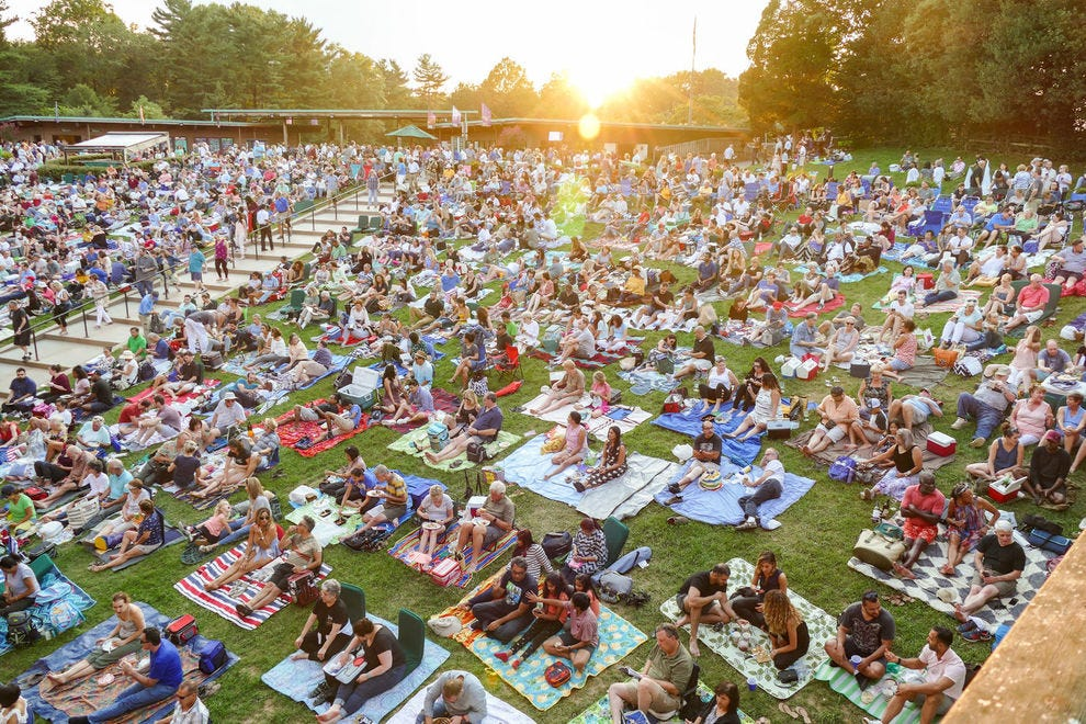There are few better ways to spend a summer evening than on the lawn of Vienna, Va.'s Wolf Trap