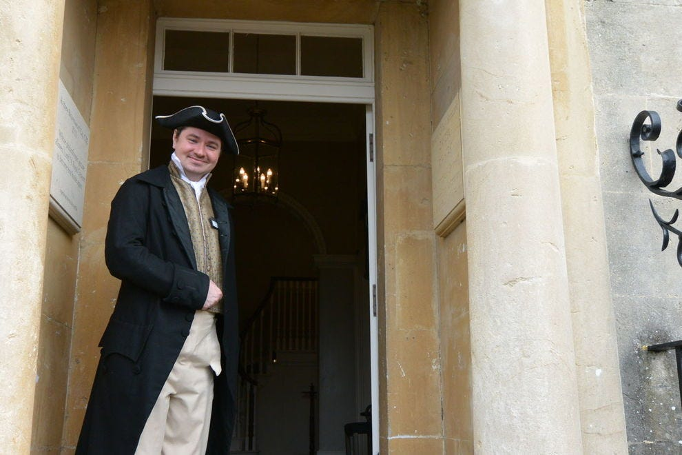 Arriving at No. 1 Royal Crescent