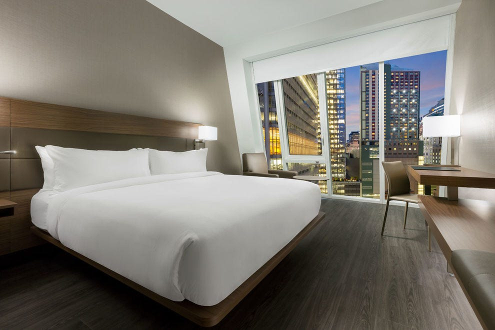 Guests soak up glorious floor-to-ceiling views at the AC Hotel New York Times Square